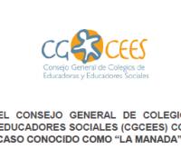 """COMUNICADO DEL CGCEES SENTENCIA DEL CASO DE """"LA MANADA""""MAYO 2018"""